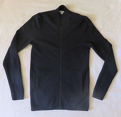 Mens Cos Zip Front Cardigan. Navy Size Small