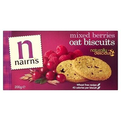 Nairn's Mixed Berries Oat Biscuits (200g). Delivery is Free