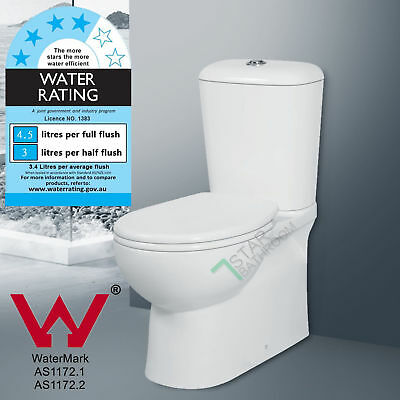6009B Toilet Suite S TRAP Wall Faced Ceramic WELS WATERMARK Soft Close Seat NEW