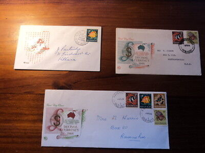 Set of 3 Australia first day cover FDC 1966 Fish