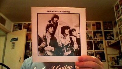 """The Beatles - She Loves You / I""""ll Get You - rare 7"""" Dutch vinyl + picture cover"""