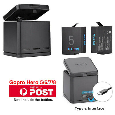 GoPro Hero 5 Multi-function Battery Charging Dock Storage Case Charging Box 2in1