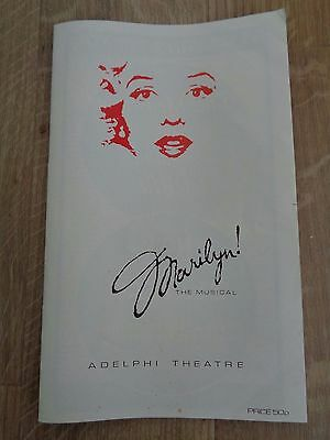 Marilyn The Musical 1983 Theatre Programme - Adelphi Theatre + Flyer