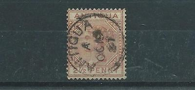 Antigua SG22 1882 2 1/2d red brown Good Used