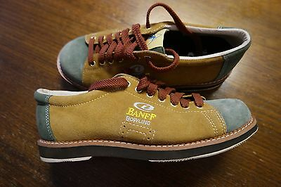 BANFF Bowling Shoes by Aerobok Size 7 Brand New Brown & Green