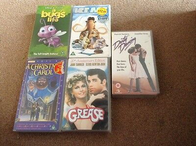 bulk assorted VHS tapes