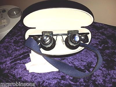 Scrimshaw Inspectacles Set,Desk Case,Strap&Cloth,XHighMag.& 2Lights,420specs nr