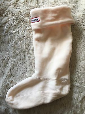 Hunter Boot Liners Size M Used Once Cream Colour