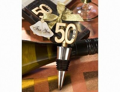 50Th Anniversary Wine Bottle Stopper Favours. Fashioncraft. Delivery is Free