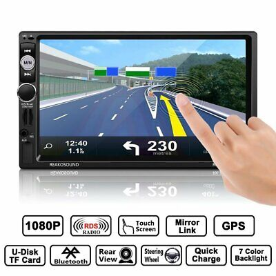 "7"" 2Din Autoradio Mit Gps Navigation Navi Bluetooth Touchscreen Mp3+ Kamera 157G"