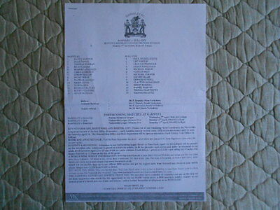 Barnsley Res V Hull City Res Pontins League B/w Single Sheet Programme 2004