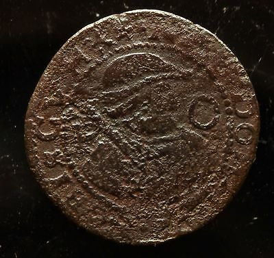 1612  Netherlands Friesland, Kwart stuiver of Oord copper coin