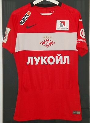 Spartak Moscow (Russia) Match Worn Home Shirt 2015-2016 Champions Season