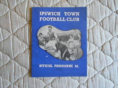Ipswich Town V Norwich Second Division Match Programme December 1960