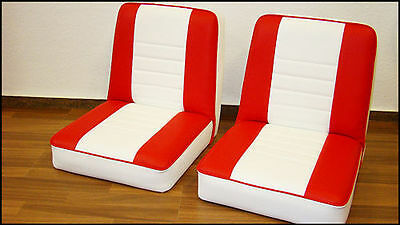 2 Boat Seat boat Steering chair seat Red/White