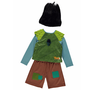 Trolls Branch Fancy Dress with Wig - 3-4 Years - BNWT