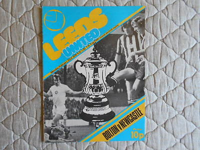 Bolton V Newcastle Fa Cup 5Th Round 2Nd Replay Match Programme 1976