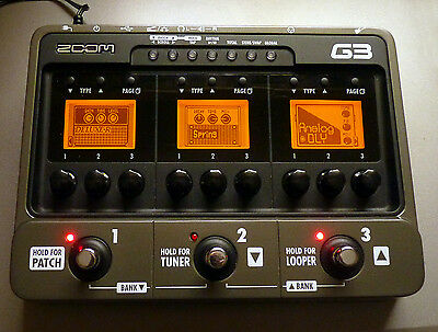 Zoom G3 guitar multi effects pedal - and more.