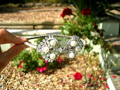 Swarovski Pearl & Crystal wedding headband, tiara, bride, jewellery