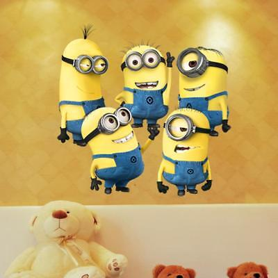 5 Minions Despicable Me Removable Wall Stickers Decal Home Decor Kids Room Art