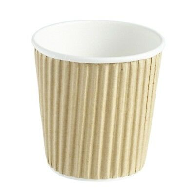 Kraft Ripple Disposable Paper Coffee Cups 4oz / 120ml - Sleeve of 40 - Hot