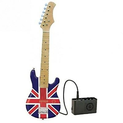 Lexibook K2600L Union Flag Electric Junior Guitar With Amplifier. Free Shipping