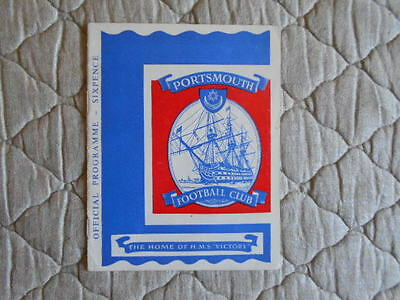 Portsmouth V Plymouth Second Division Match Programme September 1962