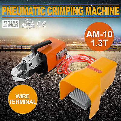 Pneumatic Wire Terminal Mobile Crimping Machine Dual-action Foot valve AM10 1.3T