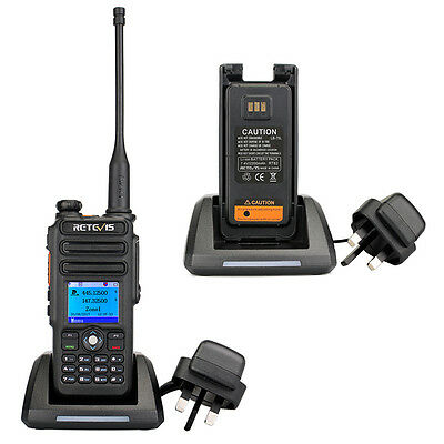 Retevis RT82 Dual Band UHF+VHF DMR Radio 3000CH Compatible with Mototrbo TierⅠ&Ⅱ