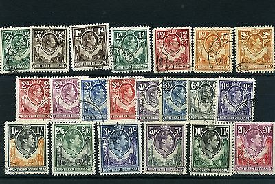Northern Rhodesia 1938 SG 25-45 set of 21 vals to 20/- fine used complete