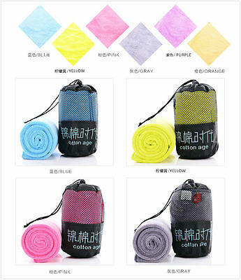 Quick Drying Sports Dry Travel Towel Camping Gym Fitness Swimming Outdoor 1212