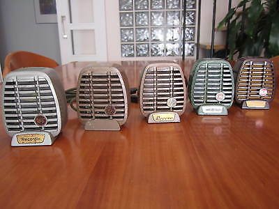 5 (Five) Art Deco Vintage Shure Microphone Shells From The 50´s