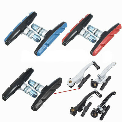 1 Pair Bicycle Cycling Bike Rubber V Brake Holder Shoes Pads Blocks Eyeable Nice
