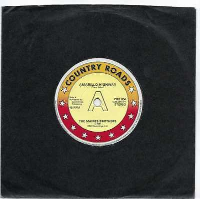 """The Maines Brothers - Amarillo Highway - 7"""" Single"""
