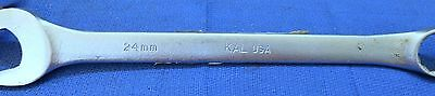 B2A KAL Tools - 24mm Combination Metric WRENCH 12Pt Box & Open End MADE IN USA