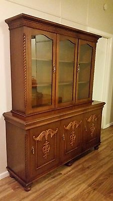 Antique Handcrafted Display Cabinet