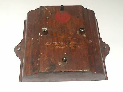 Antique Telephone Bell Cover ~ Swedish Ericsson Brown Phone Old