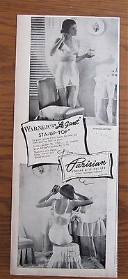 1949 Canadian Parisian Corset Co Ad French Le Gant Bra Girdle Warner's Quebec