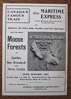 Rare 1902 Canadian Ad Intercolonial Pei Railway Grand Trunk Muskoka Railroad