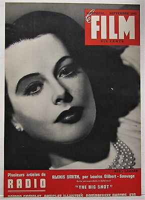 1942 French Montreal Canadian Magazine Cover Le Film Hedy Lamarr