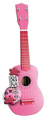 Bontempi 22 5371 I-Girl Wooden Ukulele including Stickers (53 cm). Brand New