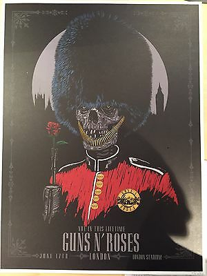 Guns n Roses (GNR) Lithograph (Litho) London (Day 2) Limited Print 145 Of 200