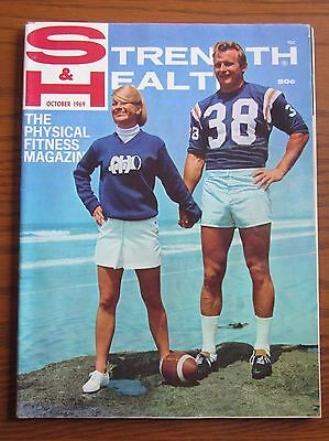 Oct 1969 Strength And Health Muscle Magazine Jacques Mackinnon Football