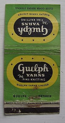 Antique Matchbook Cover Guelph Yarns Knitting Guelph Ontario
