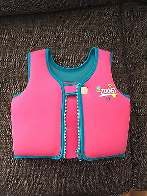 Zoggs Swim Vest Pink & Blue Age 2-3 Years