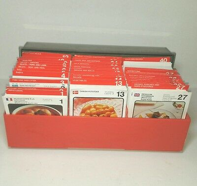 Marshall Cavendish Recipe Card box Vintage Old Retro Food Kitchen Cooking cards