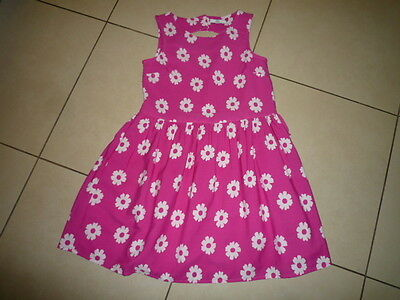 M&s Girls Pink Floral Summer Dress 9-10 Yrs - Excellent Condition