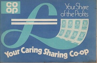 VINTAGE CO-OP SAVINGS STAMPS IN BOOK. from 1970s - Collectable, good condition