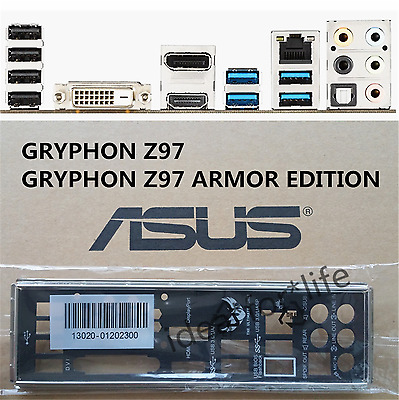 NEW Original I/O Shield for ASUS GRYPHON Z97/GRYPHON Z97 ARMOR EDITION #T3421 YS