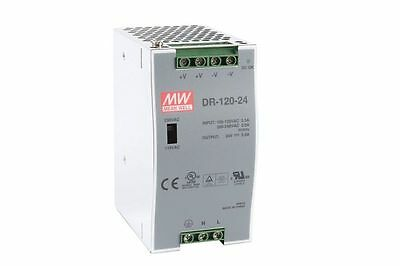 24Vdc 5 Amp Meanwell Power Supply Dr-120-24